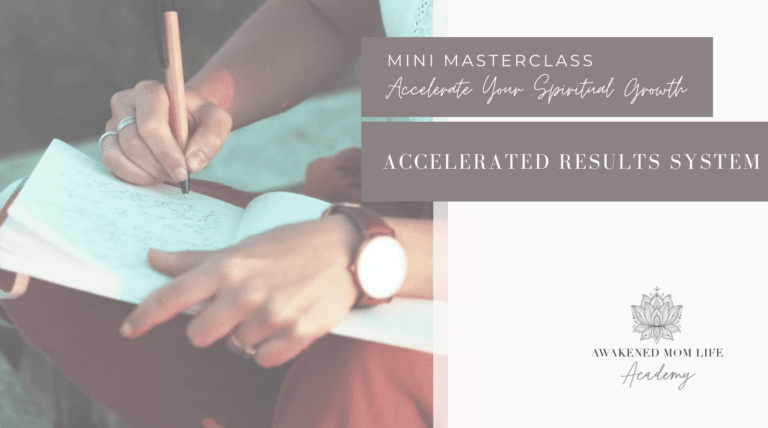accelerate spiritual growth for mothers