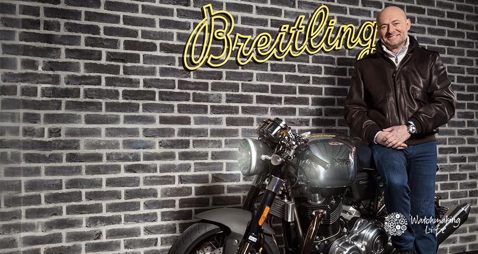 colaboración de Breitling y Norton Motorcycles anuncio