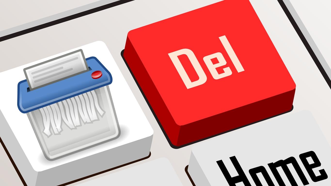 delete key shredder