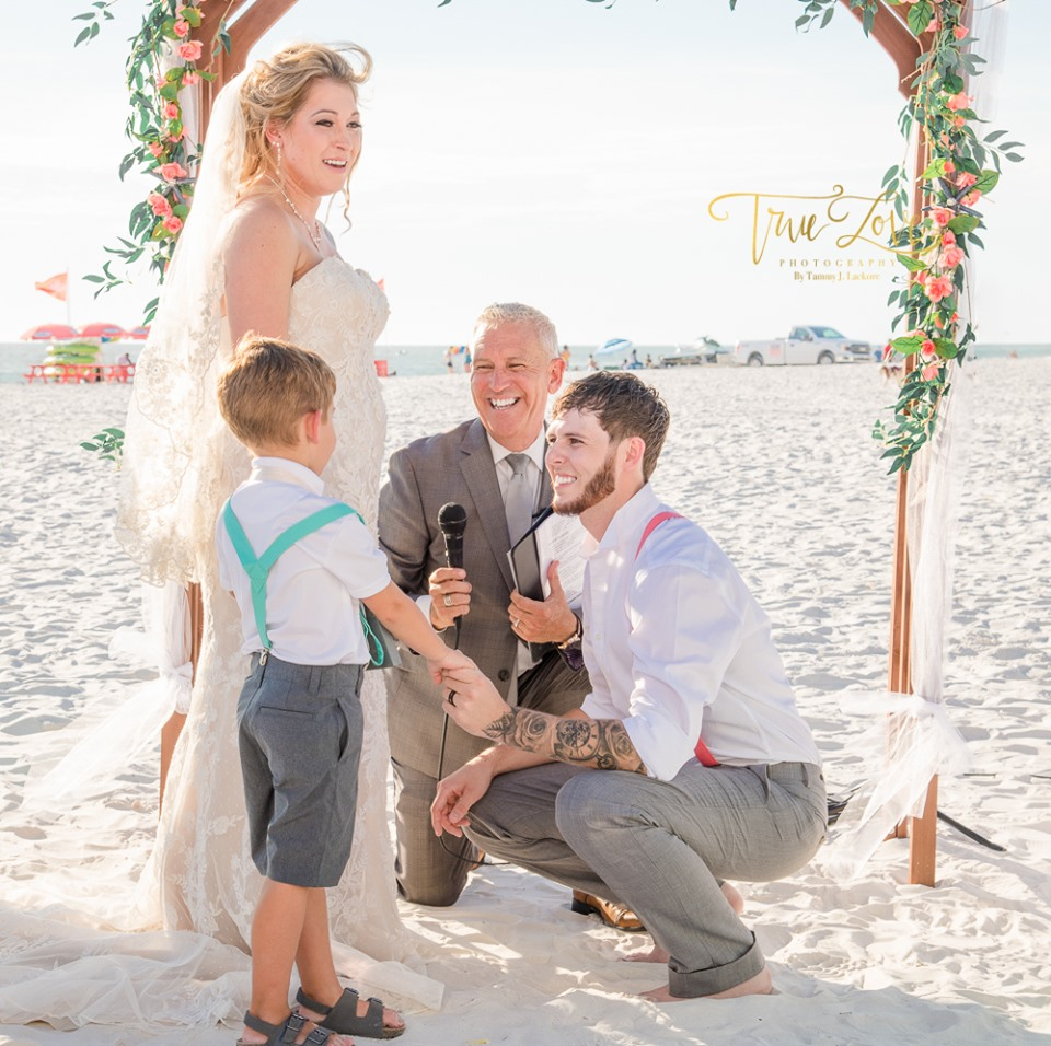 SC Officiant Rick Lackore at the Hilton Clearwater Beach