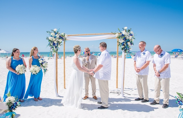 SC Officiant Rick Lackore at Clearwater Beach