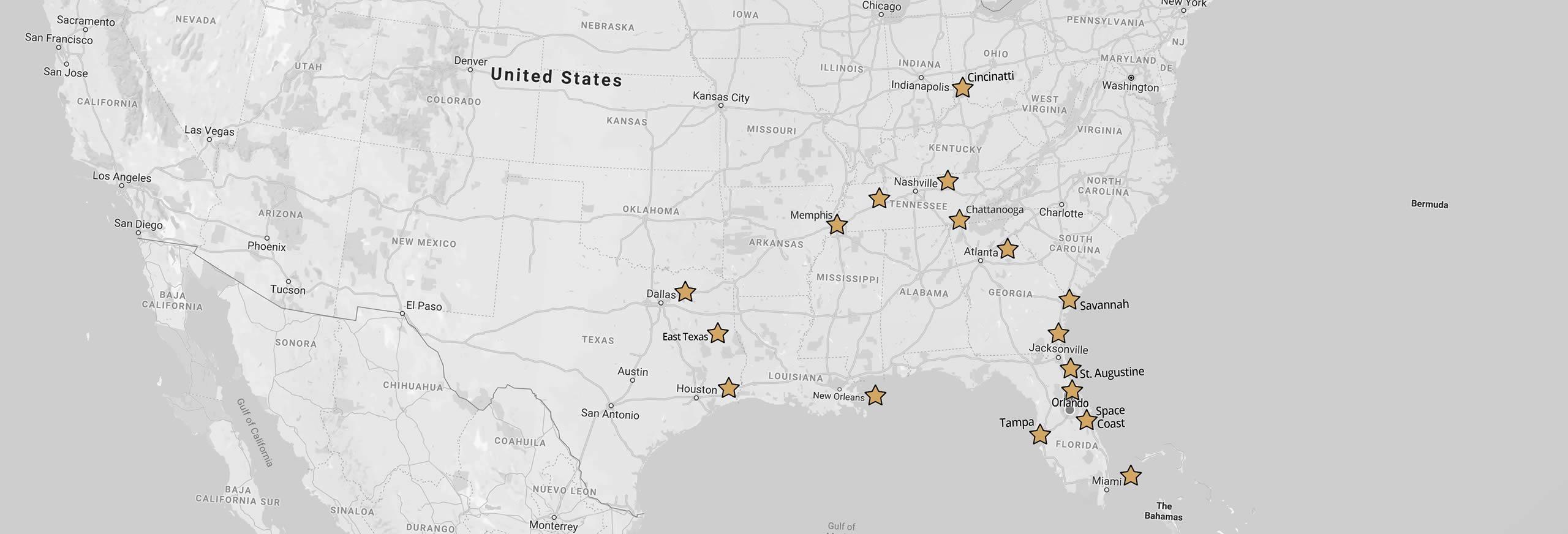 Sensational Ceremonies Service Map