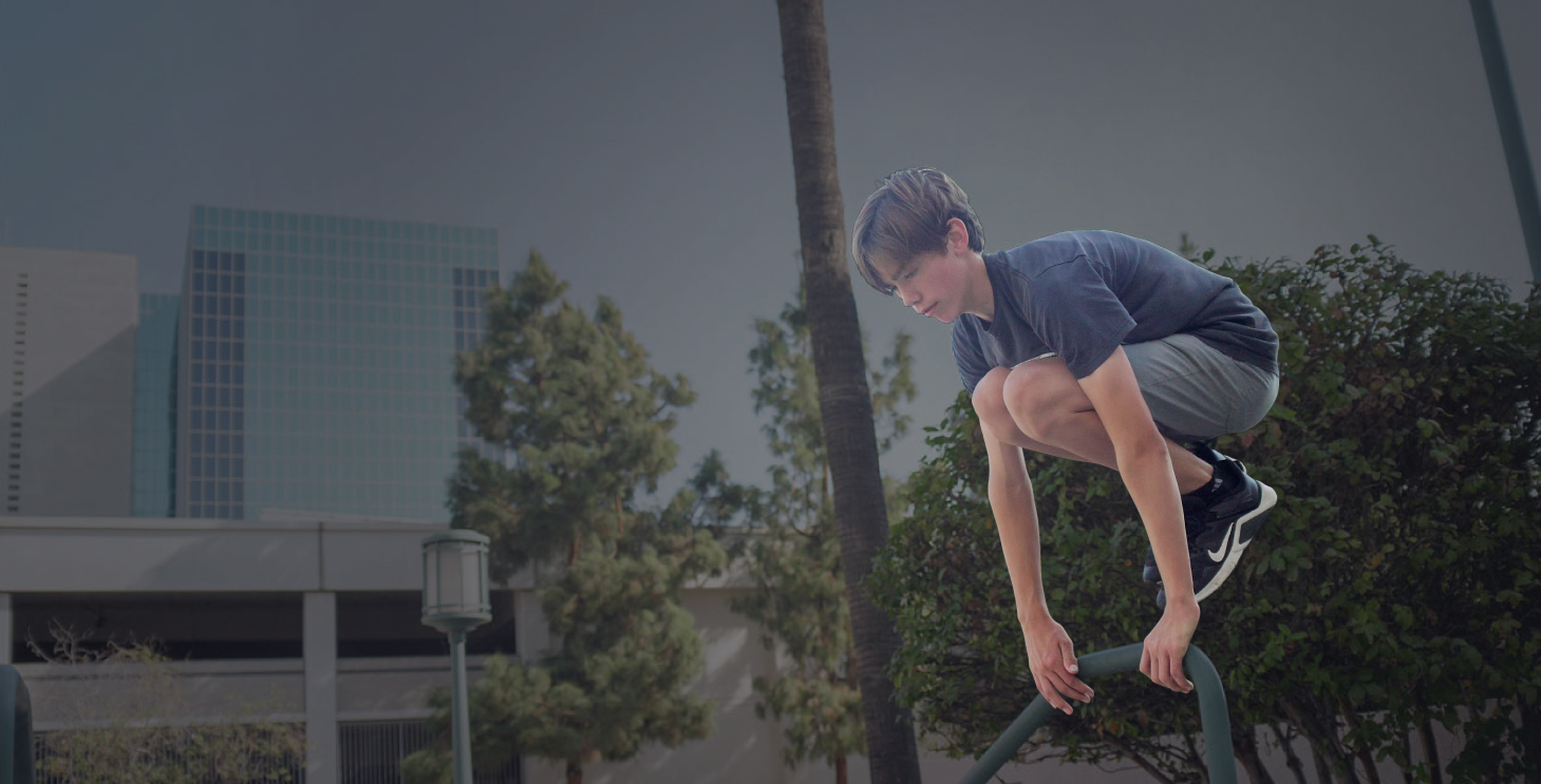 parkour class for kids in realis California the collective movements