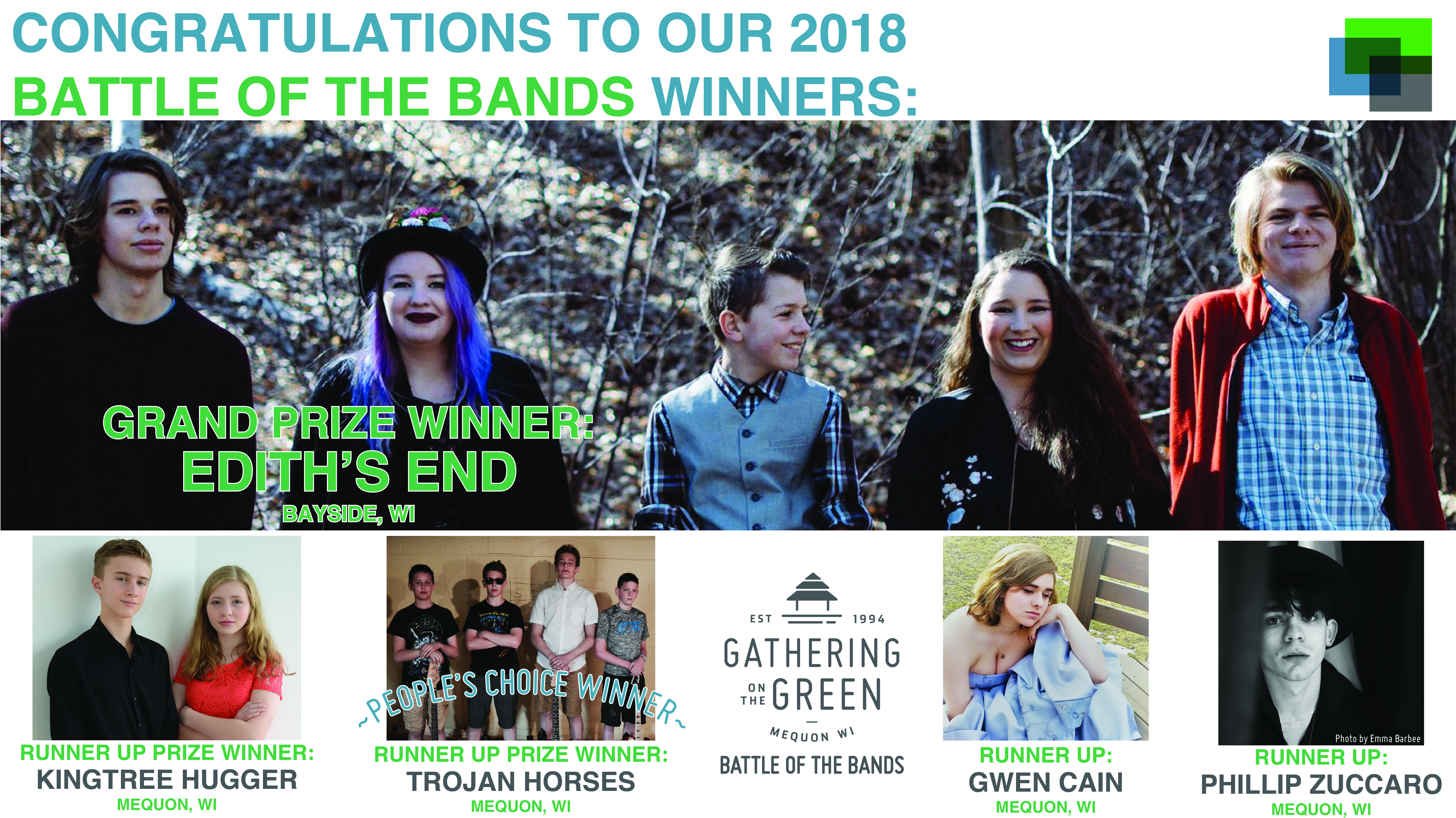 Gathering on the Green – Battle of the Bands Winners – 2018