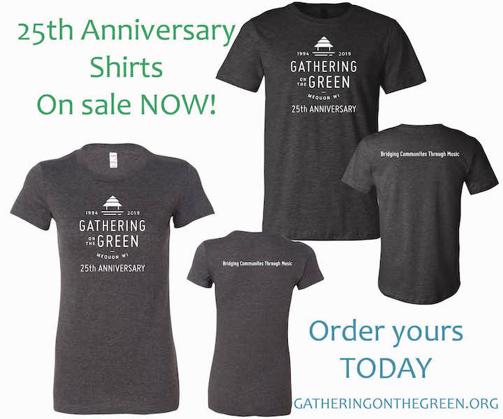 25th Anniversary T shirts smaller