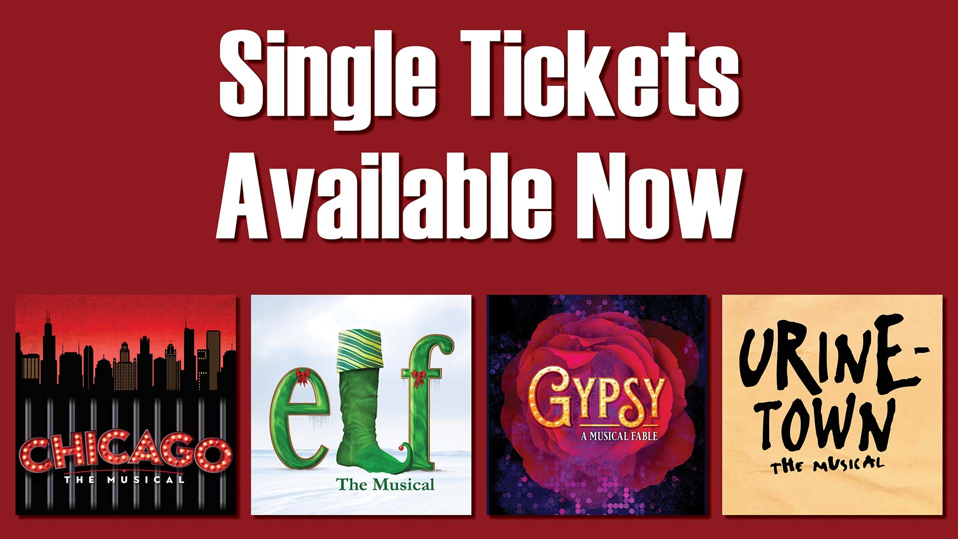 Single Tix available now