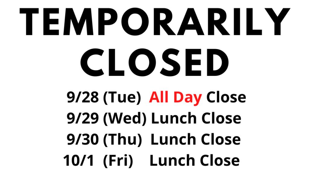 Temporary Closed