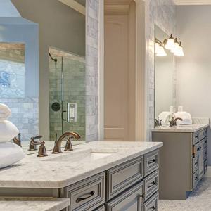Stone World White Bathroom Counters