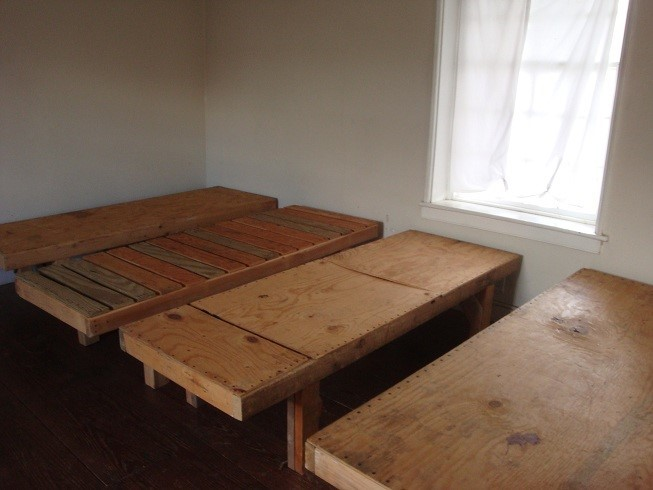 Officers Quarters, they have rather firm beds