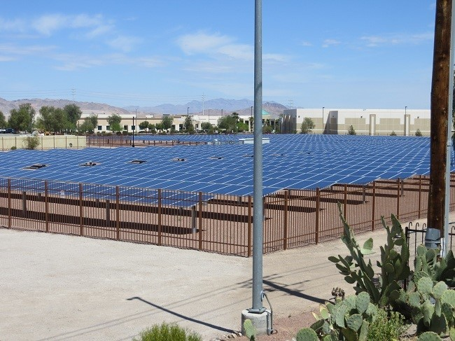 Solar panels used by the chocolate factory – something about being green. Looks Rather Blue to me