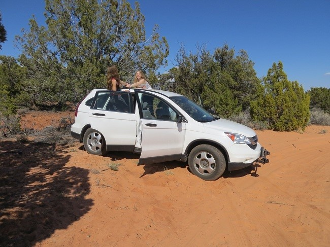 The sand got too deep for our car, though we have four wheel drive, we did not have the clearance, so we could not go far.