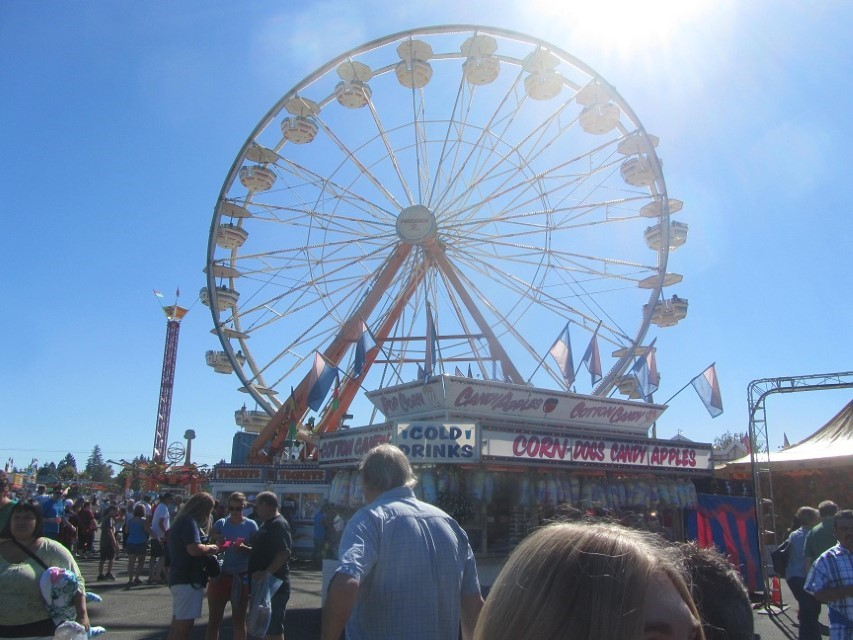 Oregon State Fair 2012 – The coldest day we have ever experienced at the fair. The high was only 75, but it made for a very comfortable afternoon. It is usually 85 or better this time of year.