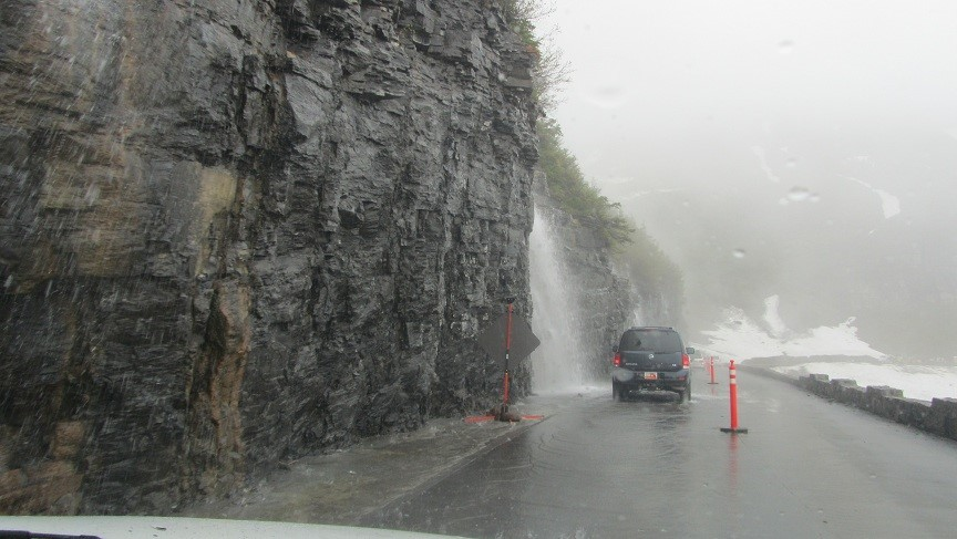 Water, Water Everywhere. We get a car wash.