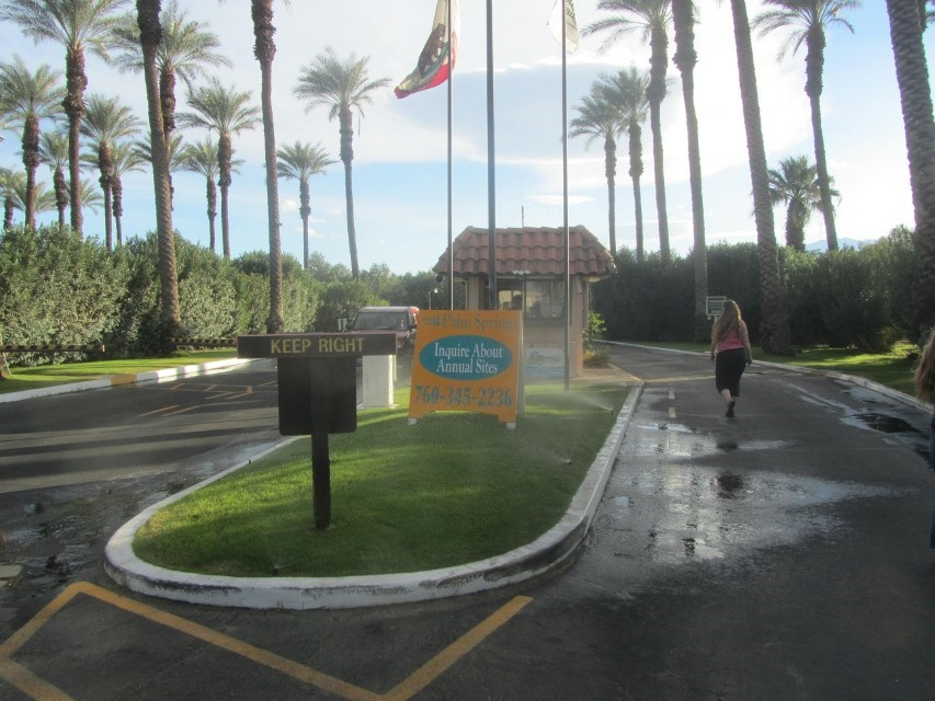 Back to the entrance of our park