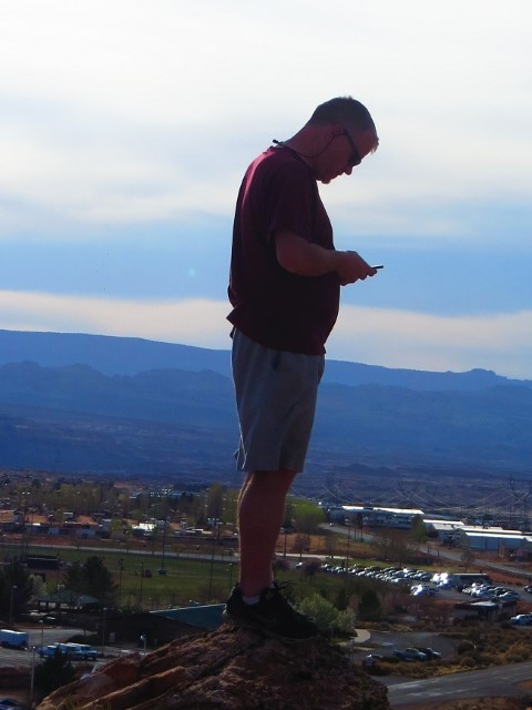 If the cell service is not great in the RV park, you can always go to the top of the bluff.