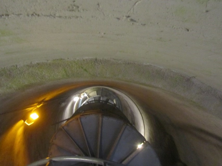 his is the spiral stairwell looking from the bottom up. Athena and I have chosen to stay at the bottom.