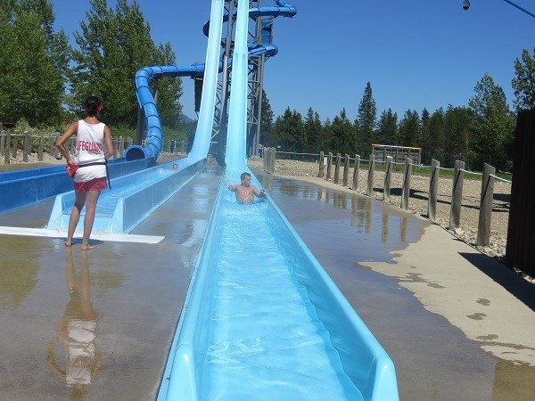 You can race a friend down this weird water slide. Getting to the top, might be a challenge though.