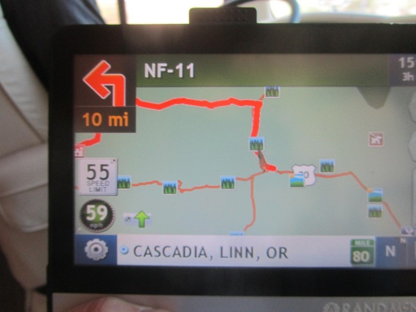 We Programmed the Rand Mc Nalley to take us to Newport Oregon. It hates us! Told us to turn up a one lane logging road it would only take 3 hours to get to Albany from Sisters. We ignored it, too 22 to I5 to 34 to 101, and made newport in 4 hours. Conclusion, the GPS was just trying to kill us, and is possessed. Ignoring its criminal intent left us happily sitting in the FOG in Newport Oregon. Fog smells better than smoke, so we are happy!
