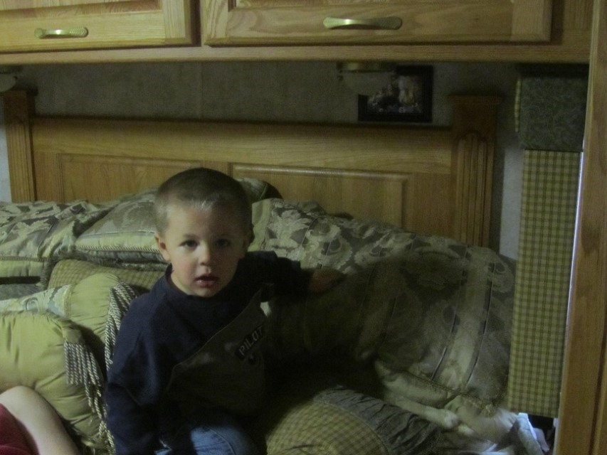 Meanwhile back at the RV, we have a visitor, looks like the camera caught him by surprise, but that does not last long.