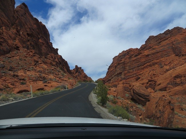 Drive to white dome