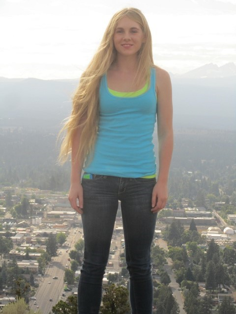 Holly on top of Bend