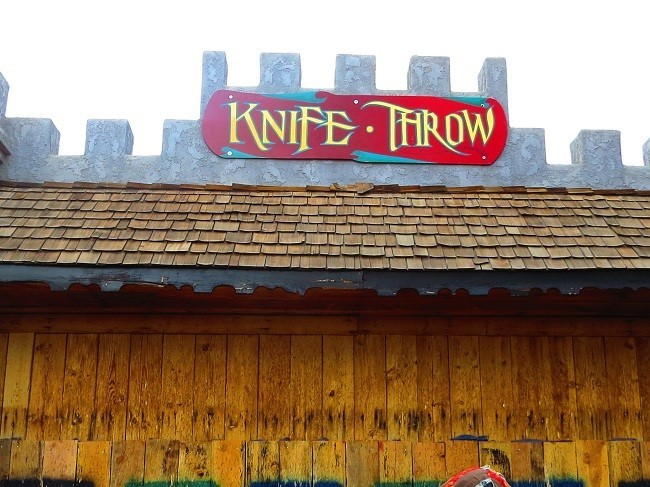 They throw knives and throwing stars too. I love throwing starts, they penetrate metal!