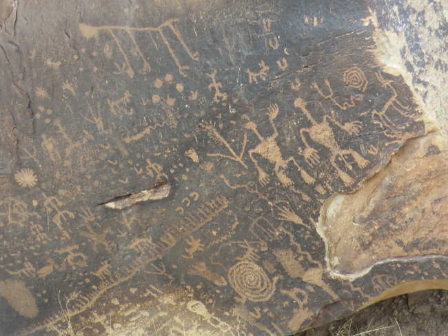 Finally ancient writing we can see!  If we use the zoom on the camera.