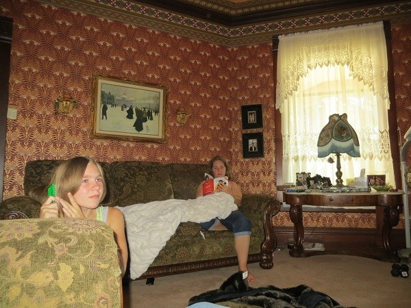 The Parlor, I fear has more square footage, than our entire house, but our house by necessity is smaller since it has to travel down the highway at 70mph.  Speaking of that, we were going to Silverwood, were we not?