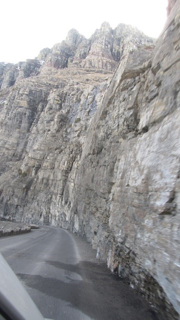 Road real Narrow, glad we left our Coach in the valley.