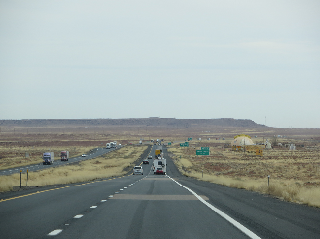 On the road again, approaching Meteor City.