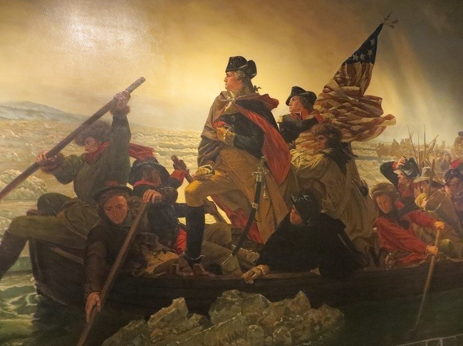 No idea, why the museum has the crossing of the Delaware, I can't tie it back to Nixon in any way, but it is a great rendition of the painting.