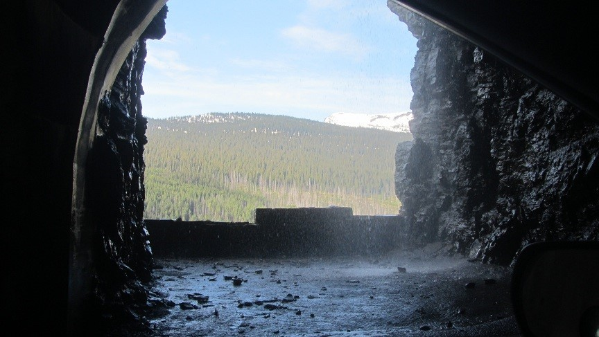 Waterfall in the tunnel