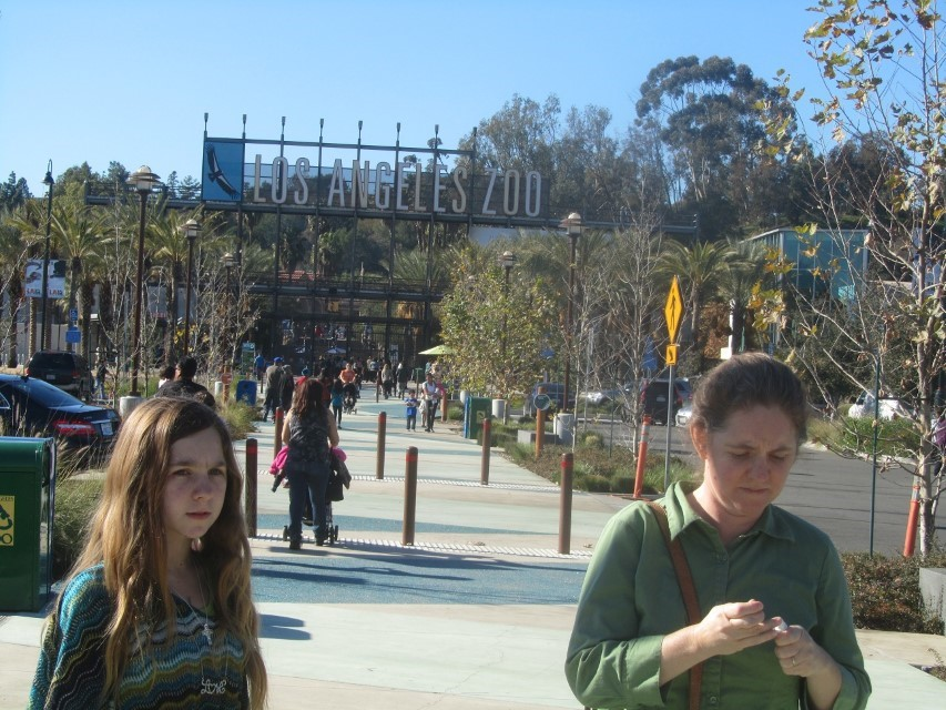 Like maybe the LA Zoo. Athena and I thought she should see it, as her mother used to take her there before she was old enough to remember existing. It is strange to hear stories of place you have been, but have no recollection of being there your self. So we decided to take tour.