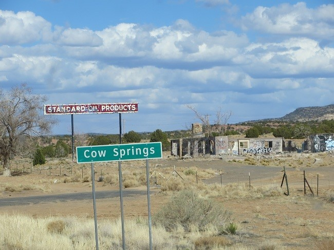 The city of cow springs, seems to be lacking in residents
