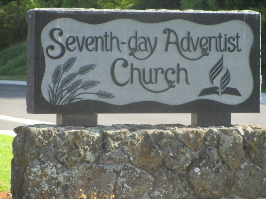 This church is not yet dead, but they bought a headstone. Must be planning in advance.