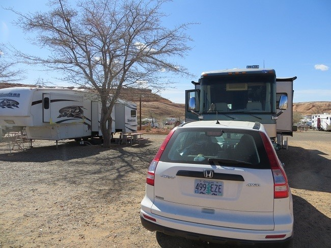 We arrive at Page Powell Campground.