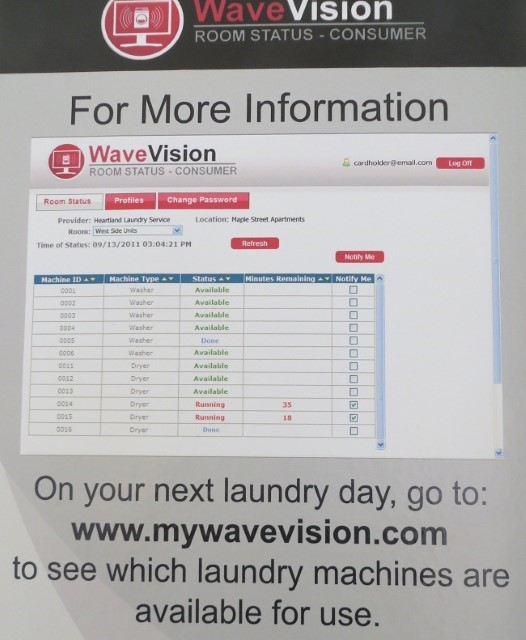 You can watch your laundry via the web!