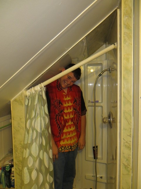 Well most everything is tolerable. This shower is not quite over the top. In fact its just plain short. – Maybe another apartment is going to to be in the near future.