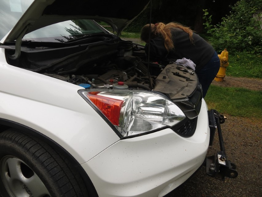Changing the light in our CRV