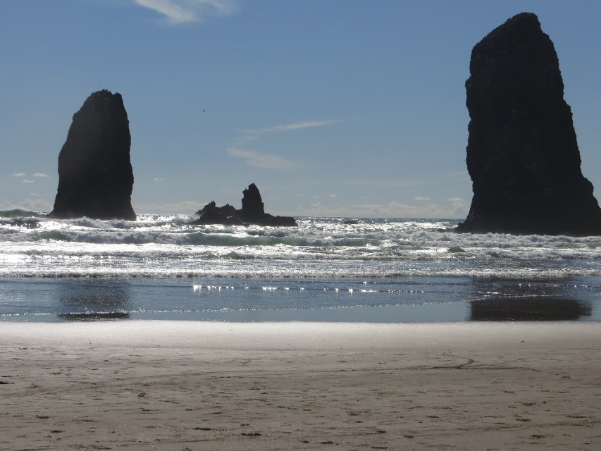 Dragged to cannon beach