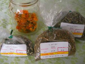 Herbs for salve