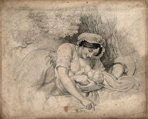 Childbirth: engraving via creative commons
