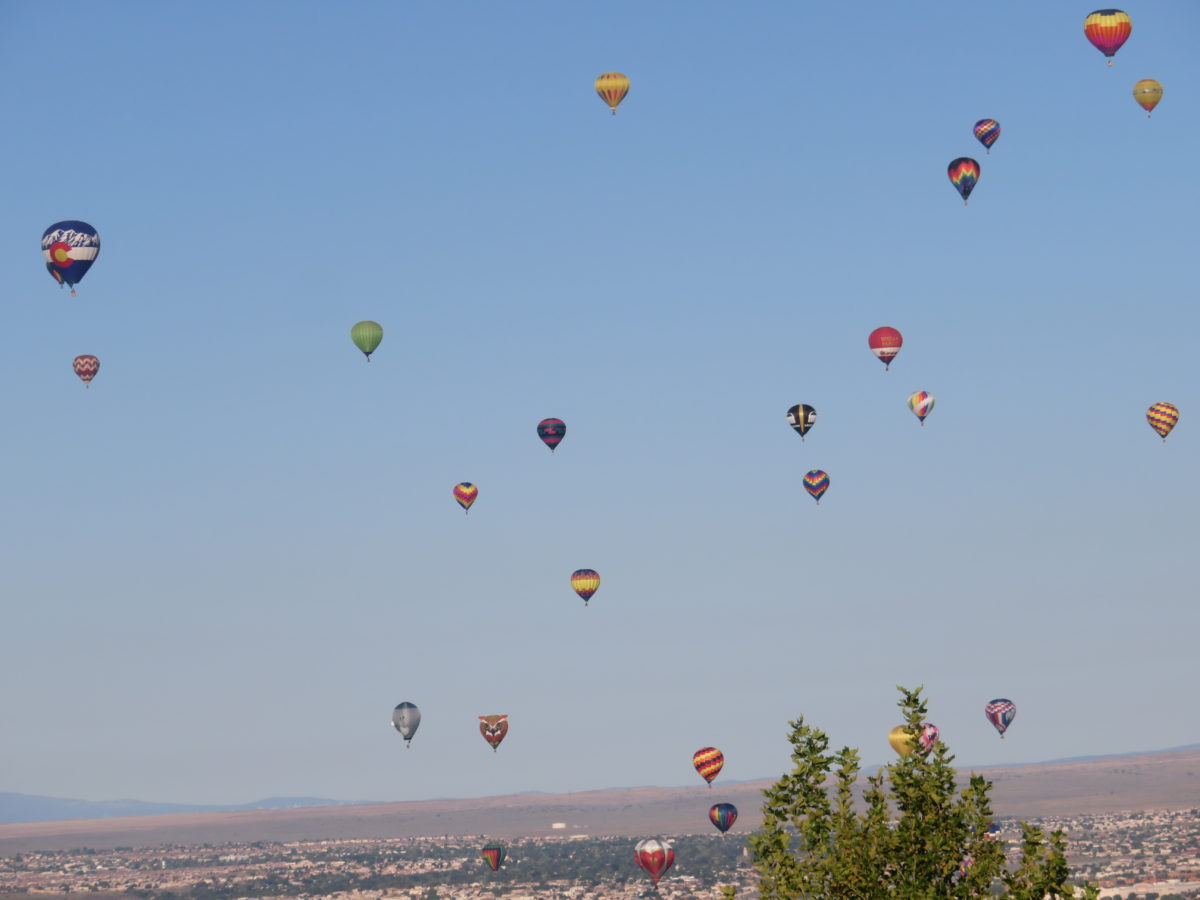 One Sunday Morning in Albuquerque: Balloons and Roosters