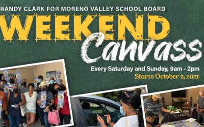 Weekend Canvass Schedule