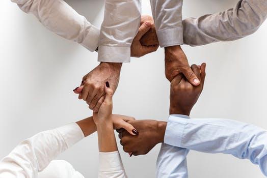 diversity hand hold