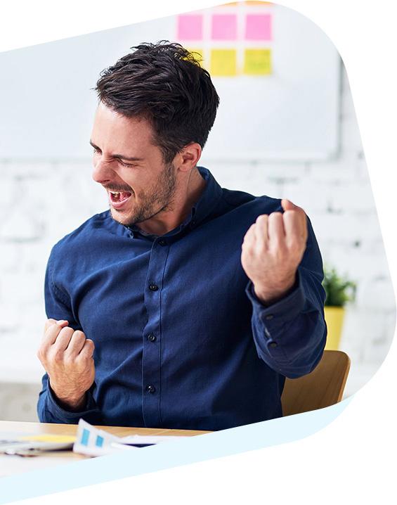Photo of happy businessman