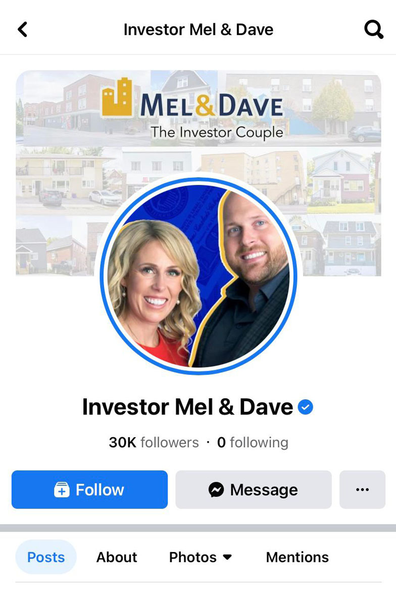 Mel And Dave Facebook