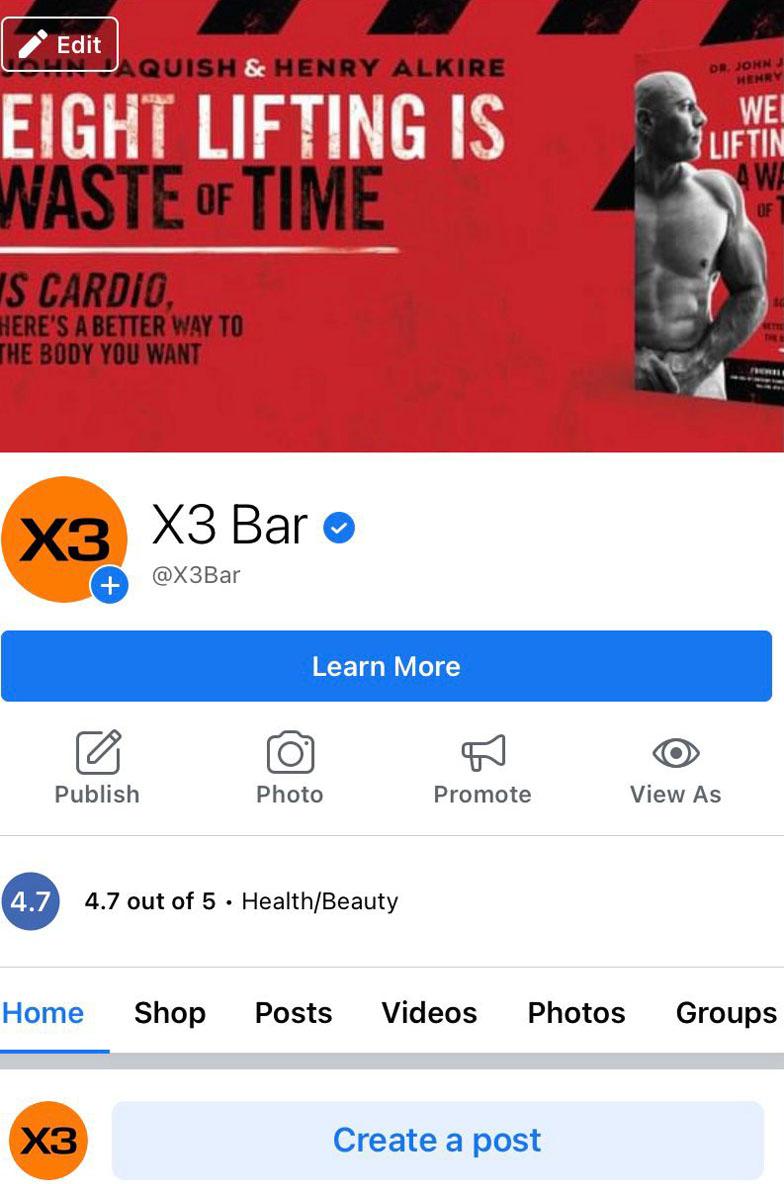 x3 Bar Facebook