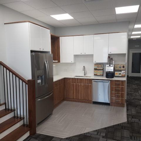 Trusted construction partner at Remax Hamilton Office Renovation - Kitchen