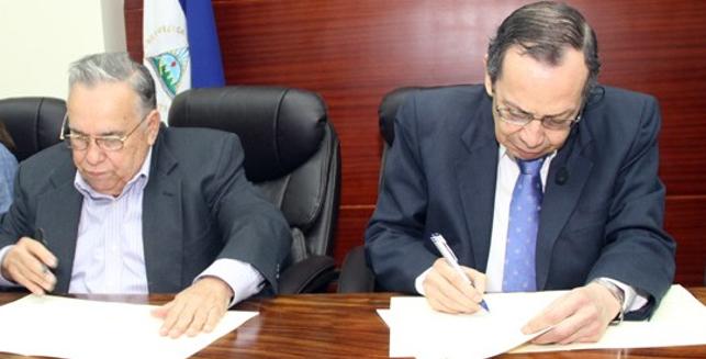 Firma de acuerdo de colaboración entre ASAMBLEA NACIONAL y AGHN